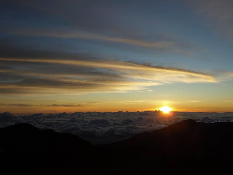 Sunup from Mount Haleakala east Maui Hawaii
