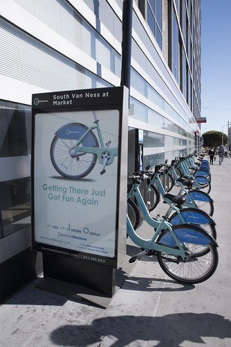 Bay Area Bike Share, South Van Ness at Market, San Francisco