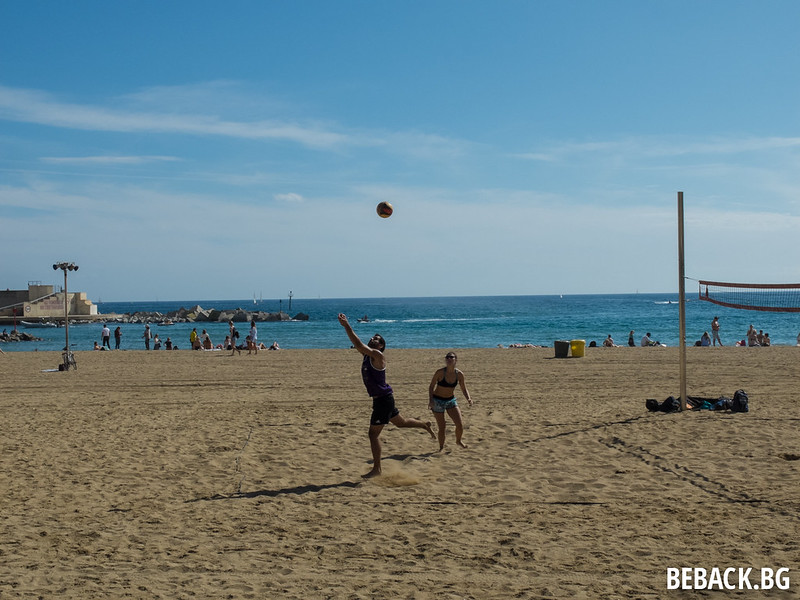 Barcelona beach in October