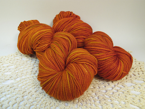 September 2014 Yarn Club: Kissed by Fire