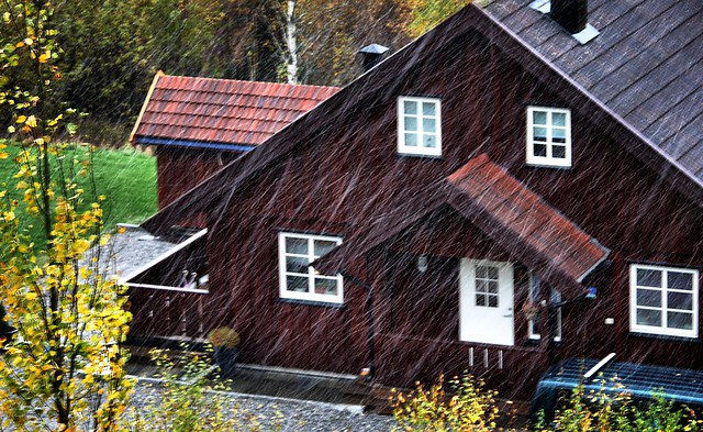 Oslo, Norway. Oct. 16th. First snow this winter