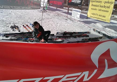 Testvání lyží Sporten