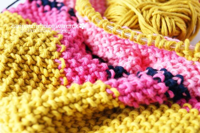 Mustard seed stitch scarf
