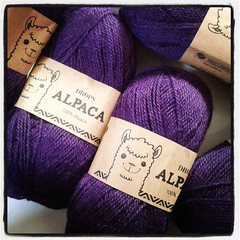 #happiness is a new #knitting project! #loveknitting #alpaca #yarn #drops