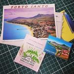 Postal de Portugal, com saquinho de chá e imã de geladeira. #postcrossing  #101coisas