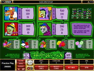 Halloweenies Slots Payout