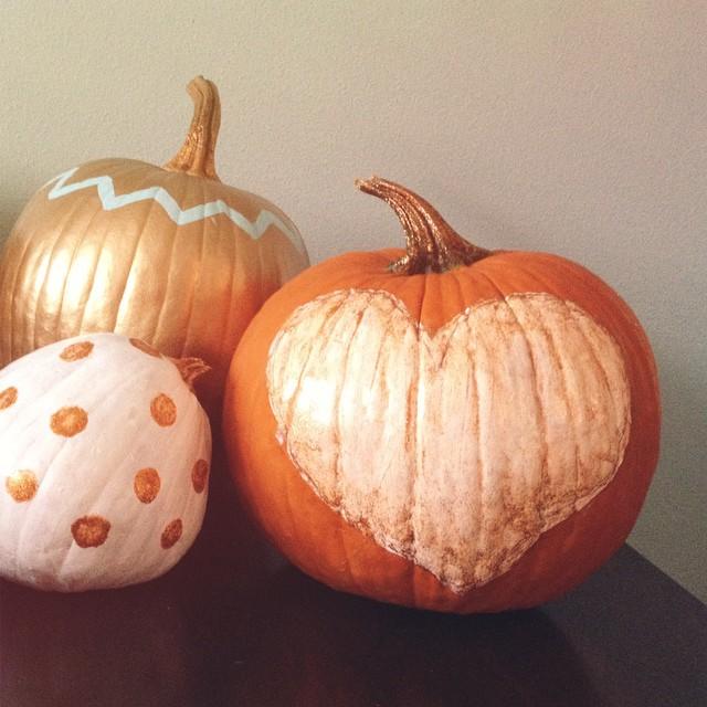 We've been painting pumpkins!