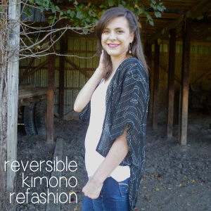 DIY Reversible Kimono Refashion by Hey, it's SJ