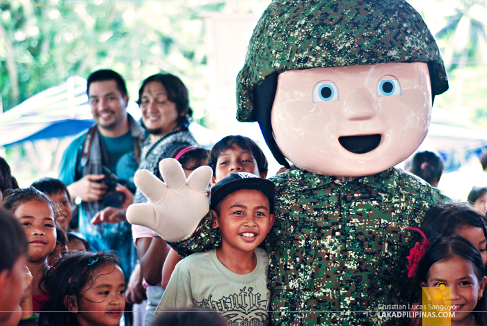Diego the Marines Mascot in Patikul, Sulu