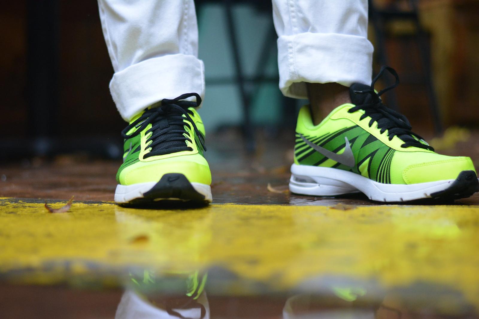 neon nike sneaker