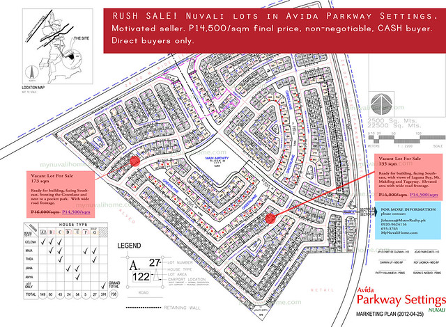 Nuvali lots for Sale
