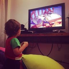 Mirando #ToyStory con #Camilo peliculón!