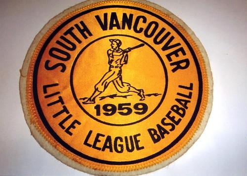 1959 South Vancouver Little League Baseball emblem