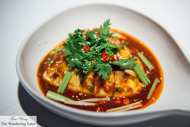 Szechuan poached chicken with crushed peanuts and sesame