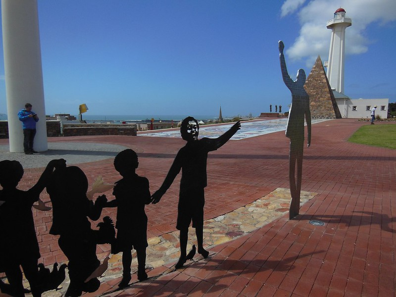 Voting Line sculpture at Port Elizabeth's Donkin Reserve