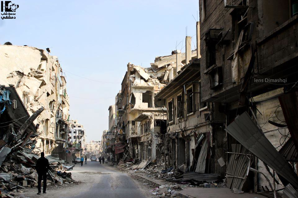 the Destruction in Douma ..