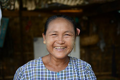 Ma Khin Myaing, the owner of the first five minute stove in Baw Di Kone village