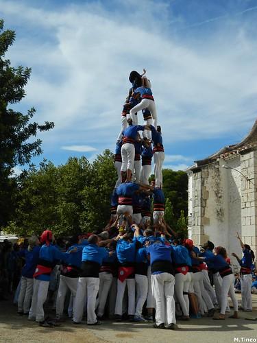 Castellers d'Esplugues a les Quinquennals d'Alcanar