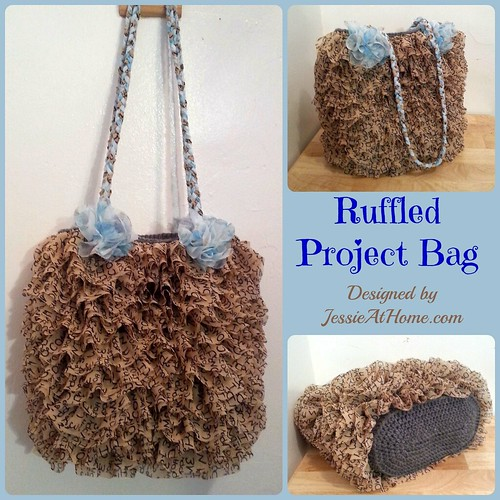 Ruffled Project Bag Designed by Jessie Rayot