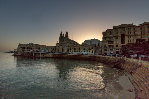beach architecture sunrise malta oldcity gw1