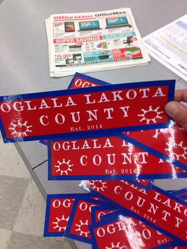 Oglala Lakota County stickers