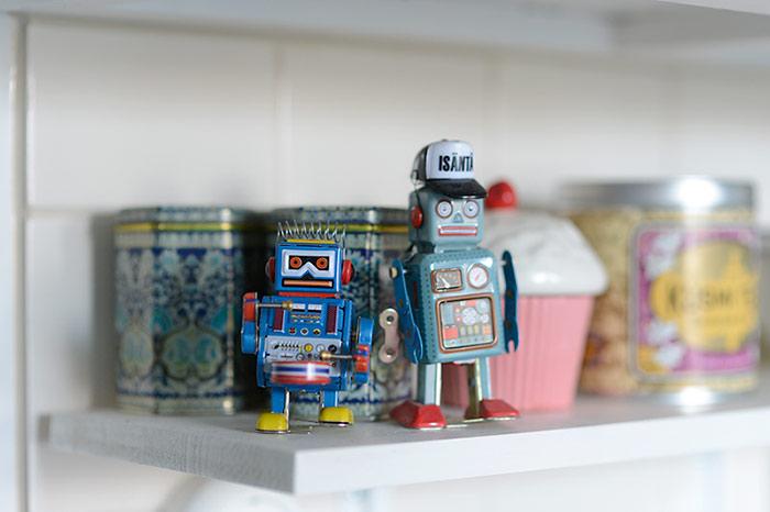 Colors of Our Home: Blue Robots