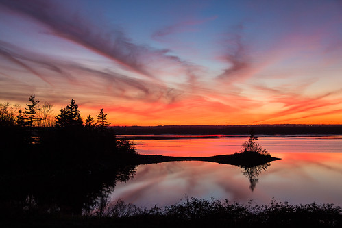 sunset canada reflection water clouds novascotia ns lawrencetown
