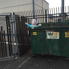 Dumpster cam this morning.