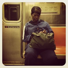 Friday night 3 train.#nycsubwayportraits #nyc #train #subway #publictransportation #commute #3train