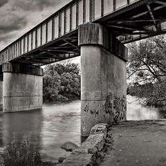 Down by the river! #biketrail #bridge #reflection #river #woodstockontario #blackandwhitephotography #blackandwhite @eduardontavares