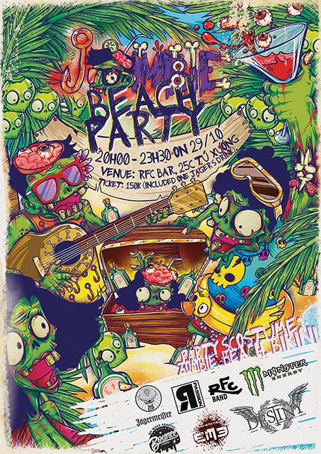 Trải nghiệm mới cùng Jombie Beach Party tại RFC bar