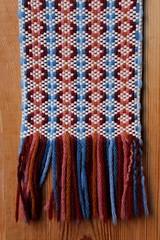 pattern, textile, wool, knitting, scarf, woolen, blue,