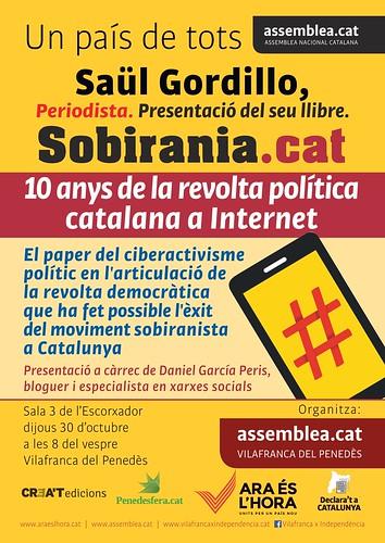 Cartell Presentació Sobirania.cat a Vilafranca del Penedès 30-10-14