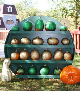 Christmas pumpkin display