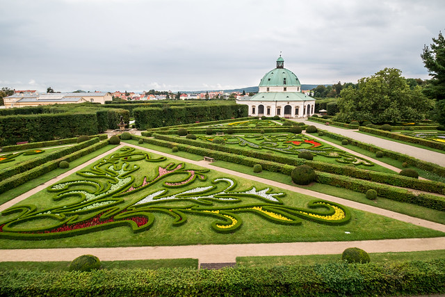 The formal gardens at Kromeriz, Czech republic