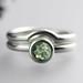 Green Montana Sapphire Wedding Set by Sarah Hood Jewelry