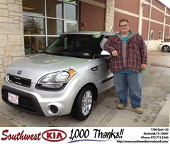 #HappyAnniversary to Josh Walker on your 2013 #Kia #Soul from Kathy Parks at Southwest KIA Rockwall!