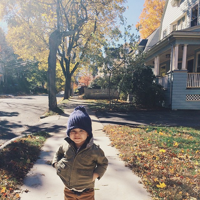 A beautiful, blustery day here in New England. #instaluther #toddler #fall #autumn #newengland #beautifulday
