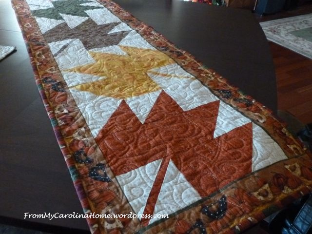 Maple Leaf Table Runner finished 1