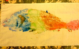 a completed fish print