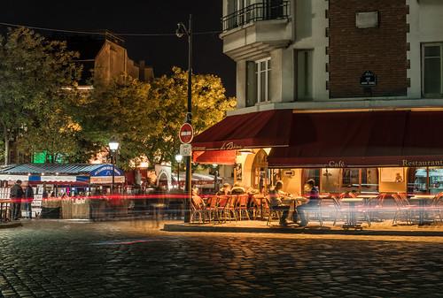 Night streets of Montmartre