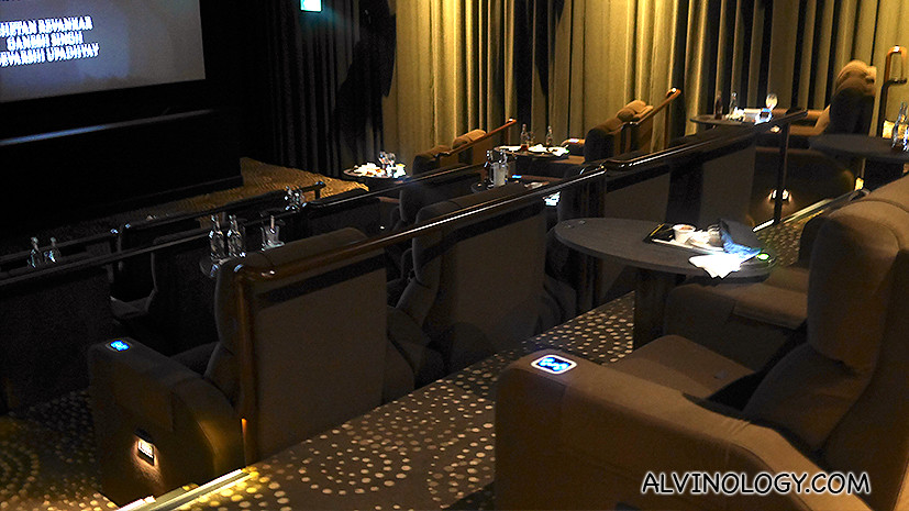 Brand new GV Gold Class theatre at GV Suntec City