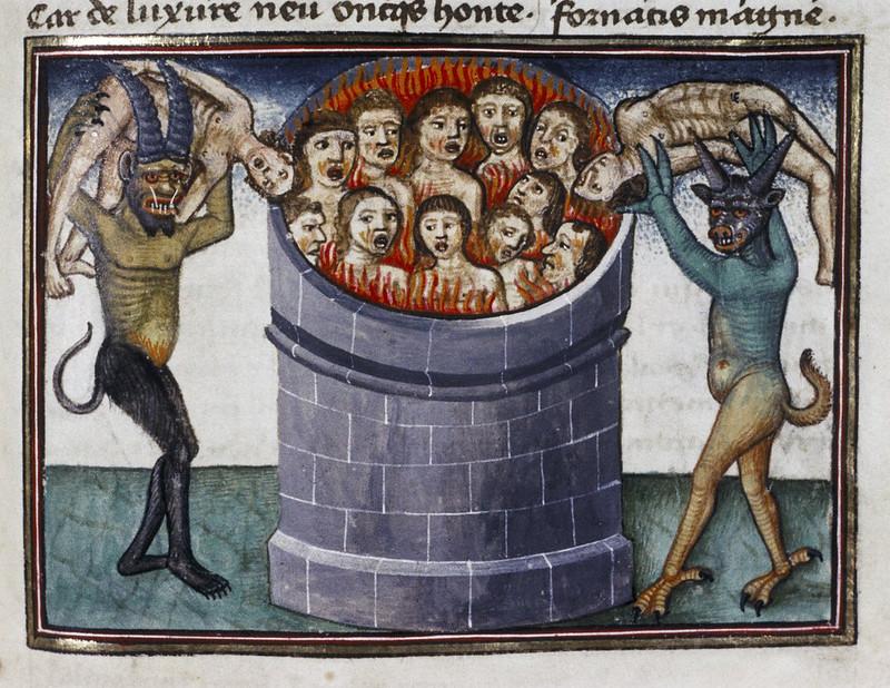 Demons From The Livre de la vigne nostre Seigneur 1450 - 70 (19)