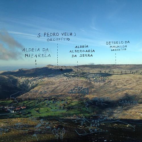Legendas no Piso Panorâmico do #RadarMeteorologico de #Arouca #GeoPark #AroucaGeoPark