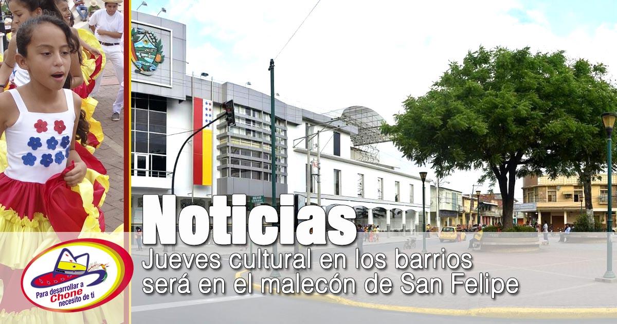 Jueves cultural en los barrios será en el malecón de San Felipe