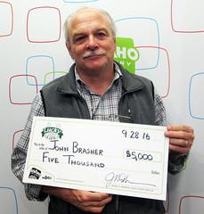John Brasher - $5,000 Lucky for Life