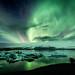 Aurora Borealis at Jökulsárlón by unneva