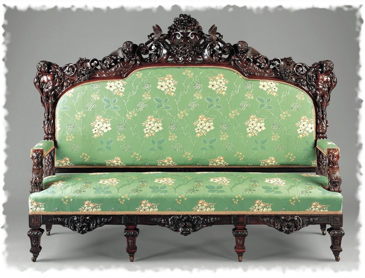 1853 Sofa. American. Rosewood. metmuseum