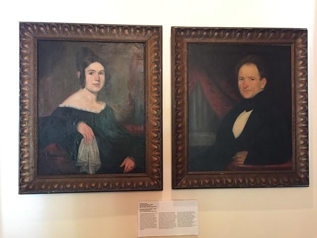 Austin: Neill-Cochran House Museum - Portraits of Lucinda Davis Miller & Ebenezer Templeton Miller