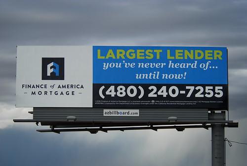 Finance of America Mortagage billboard - Santan Freeway Loop 202, Chandler, AZ